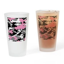 PINK CAMO IPAD CASE Drinking Glass
