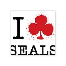 "I Club Seals Square Sticker 3"" x 3"""