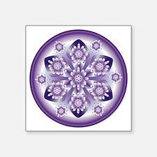 "MOV FLOWER-1 copy Square Sticker 3"" x 3"""