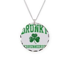 Drunky Necklace Circle Charm