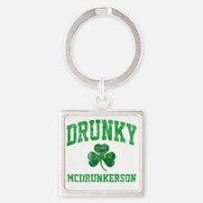 Drunky Square Keychain