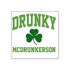 """Drunky Mug Square Sticker 3"""" x 3"""""""