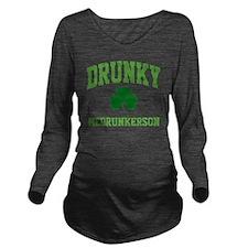 Drunky Mug Long Sleeve Maternity T-Shirt