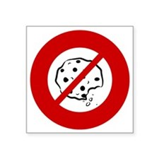 "no-cookies Square Sticker 3"" x 3"""