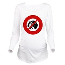 no-dogs Long Sleeve Maternity T-Shirt