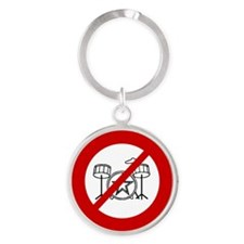 no-drums Round Keychain