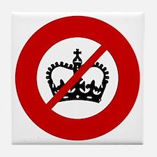no-crowns Tile Coaster