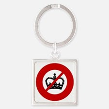 no-crowns Square Keychain