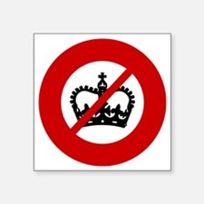 "no-crowns Square Sticker 3"" x 3"""
