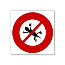 "no-geckos Square Sticker 3"" x 3"""