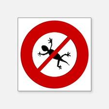 """no-geckos Square Sticker 3"""" x 3"""""""