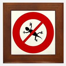 no-geckos Framed Tile