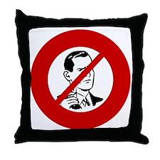 no-jerks Throw Pillow