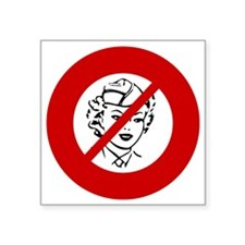 "no-nurses Square Sticker 3"" x 3"""