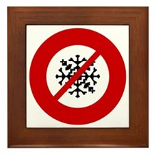 no-snow Framed Tile