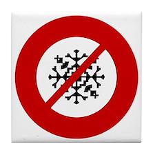 no-snow Tile Coaster