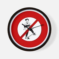 no-skateboarders Wall Clock