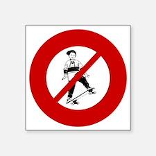 """no-skateboarders Square Sticker 3"""" x 3"""""""