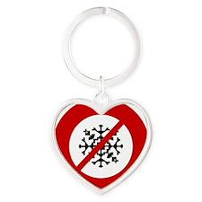 no-snow Heart Keychain