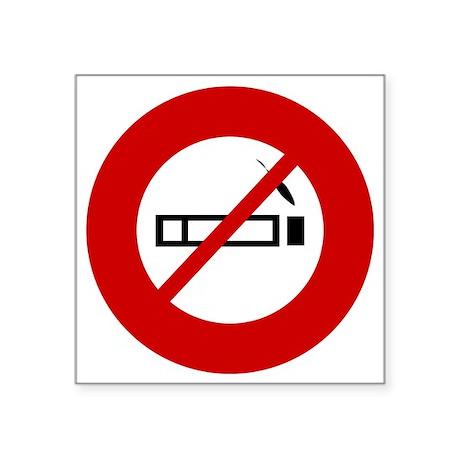 "no-smoking Square Sticker 3"" x 3"""