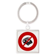 no-telemarketers Square Keychain