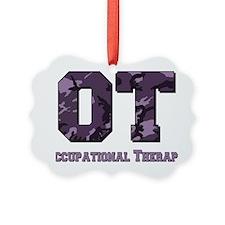 camo letters purple Ornament