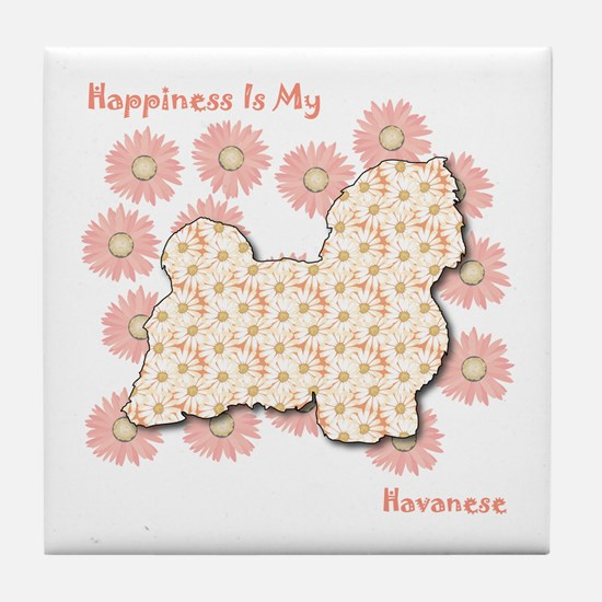 Havanese Happiness Tile Coaster
