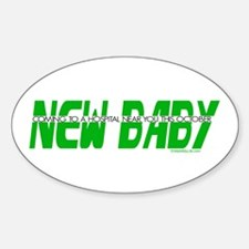 New Baby- October Oval Decal