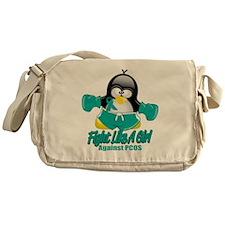 PCOS-Fighting-Penguin Messenger Bag