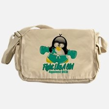 OCD-Fighting-Penguin Messenger Bag