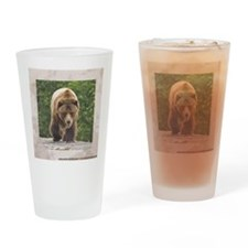 tile-grizzly-1 Drinking Glass