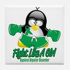 Bipolar-Fighting-Penguin Tile Coaster