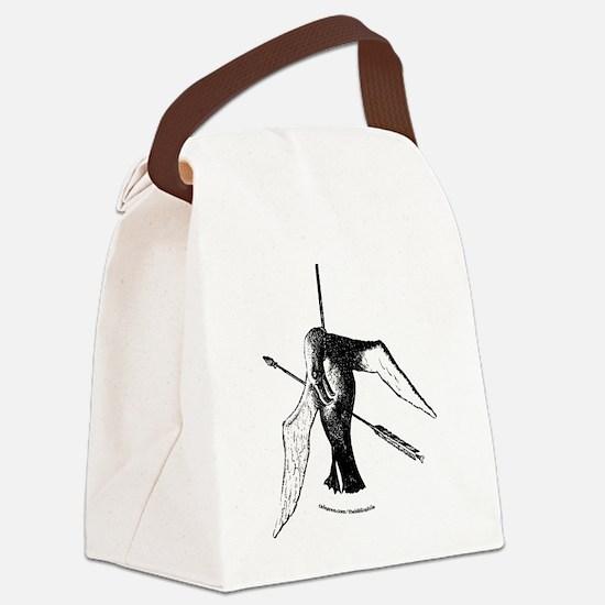 albatross with arrow (lite) (url) Canvas Lunch Bag