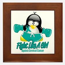 Cervical-Cancer-Fighting-Penguin Framed Tile