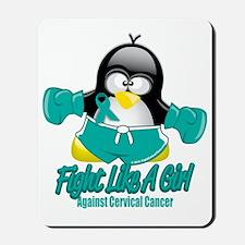 Cervical-Cancer-Fighting-Penguin Mousepad