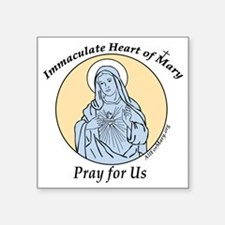 "Immaculate Heart Square Sticker 3"" x 3"""