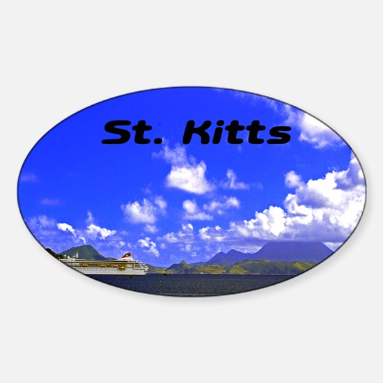 St. Kitts42x28 Sticker (Oval)