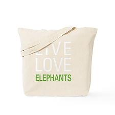 liveelephant2 Tote Bag
