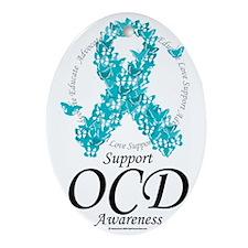 OCD-Ribbon-Of-Butterflies Oval Ornament