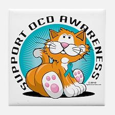 OCD-Cat Tile Coaster