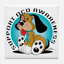 OCD-Dog Tile Coaster