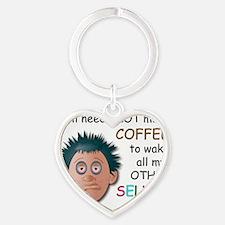 Coffee_Schizo_Male Heart Keychain