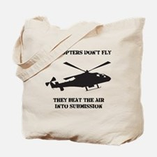 Helicopter Submission Black Tote Bag