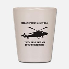 Helicopter Submission Black Shot Glass