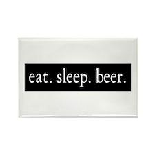eat. sleep. beer. Rectangle Magnet (10 pack)