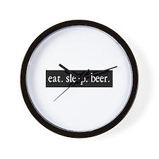 eat. sleep. beer. Wall Clock