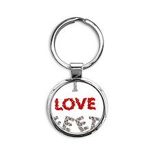 lovefeetbtn Round Keychain