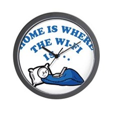 Home is where the wi-fi is Wall Clock