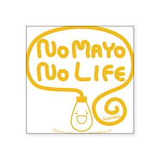 "nomayo_credit Square Sticker 3"" x 3"""