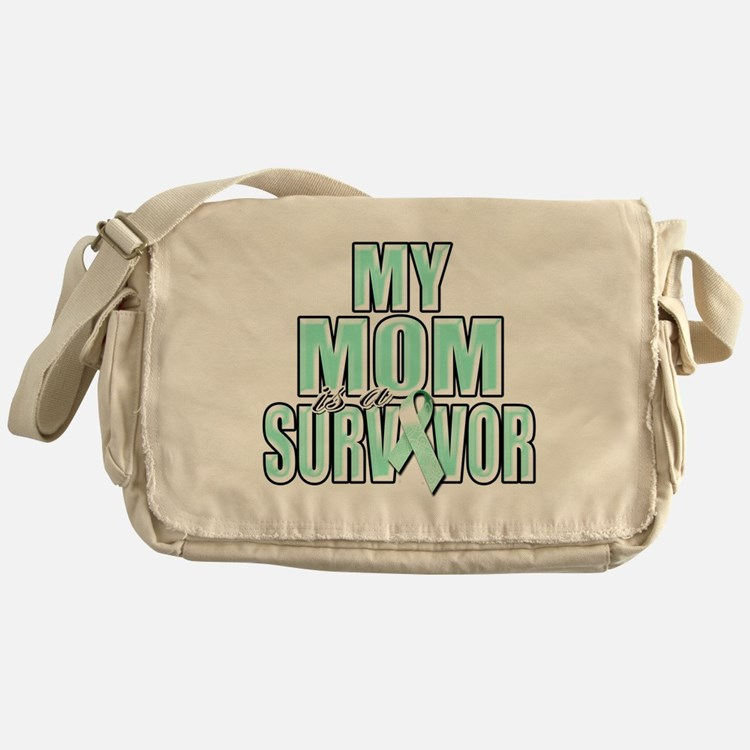 My Mom is a Survivor (teal) Messenger Bag